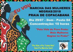 Marcha das Mulheres Negras. Pela vida do povo preto: mais mulheres negras no poder. @ Praia de Copacabana